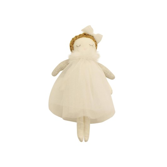 French Country Ella Hanging Angel White Small