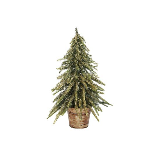 French Country Potted Table Tree Gold Small
