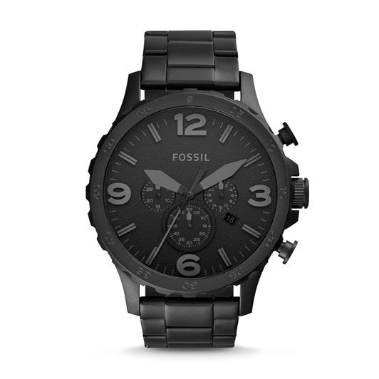 Fossil Nate Black Chronograph Watch JR1401