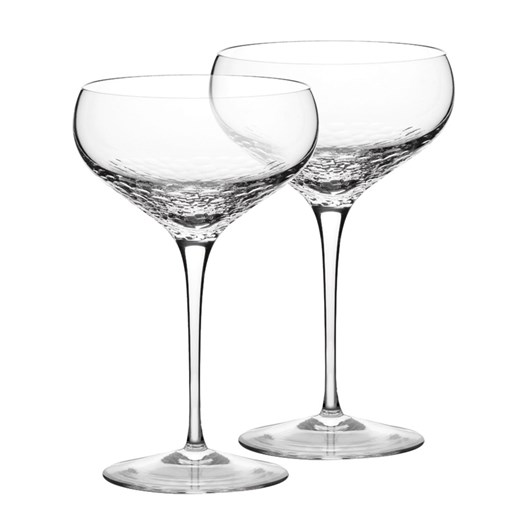 Vera Wang Sequin Champagne Saucer Pair
