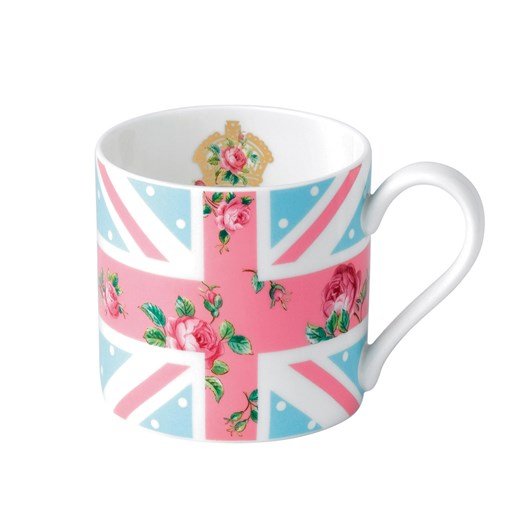 Royal Albert Cheeky Pink Union Jack Blue Modern Mug