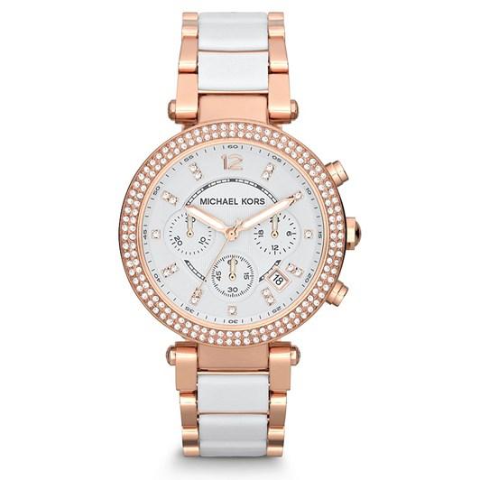 Michael Kors Parker Rose Gold-Tone Chronograph Watch MK5774