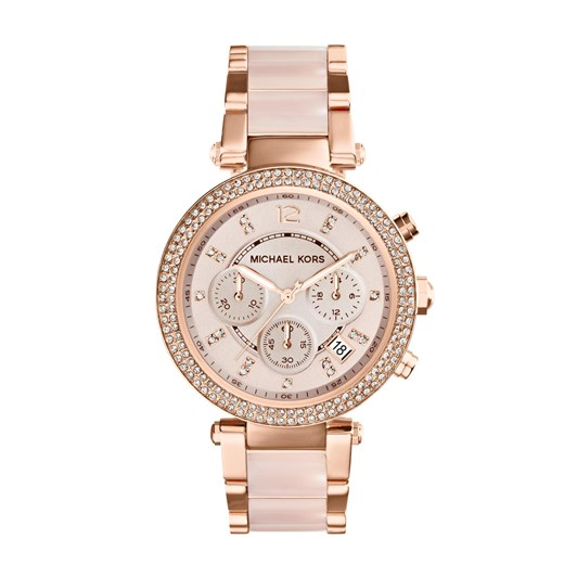 Michael Kors Parker Rose Gold-Tone Chronograph Watch MK5896