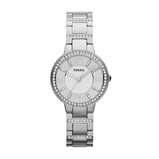 Fossil Virginia Silver-Tone Analogue Watch ES3282
