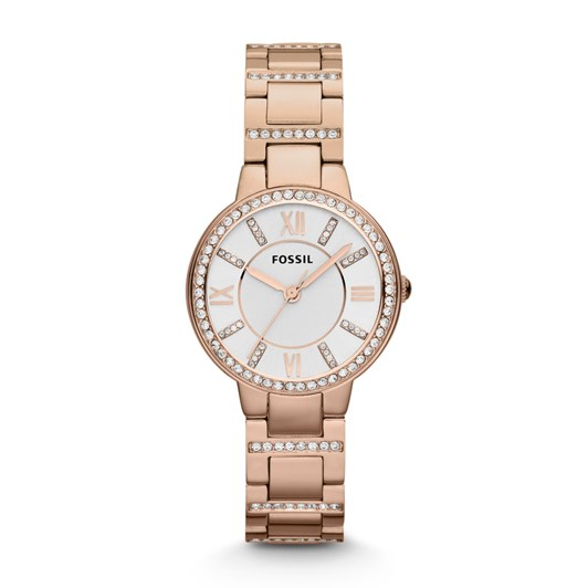 Fossil Virginia Rose Gold-Tone Analogue Watch ES3284
