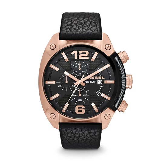Diesel Overflow Black Chronograph Watch DZ4297