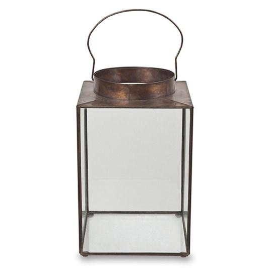 Illuminado Lantern Antique Gold 25.5x25.5x40cmh