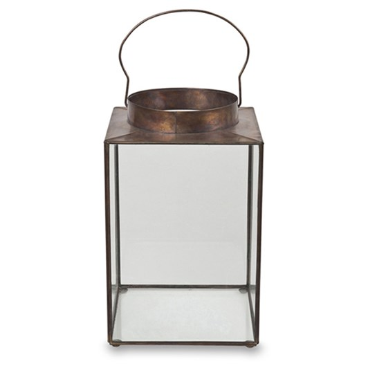 Citta Illuminado Lantern Antique Gold M 20x20x25cmh