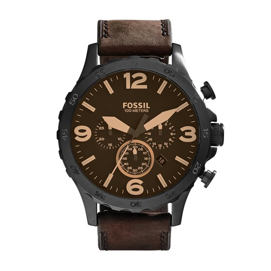 Fossil Nate Dark Brown Chronograph Watch JR1487