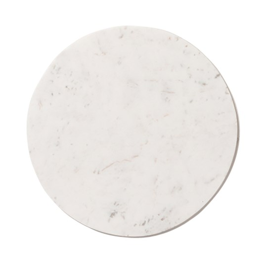 Citta Marble Round Serving Board White Large 40cmdiax1.5cmh