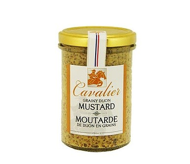 Cavalier Traditional Grainy Mustard In Stone Jar 500g
