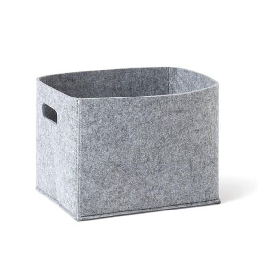 Citta Felt Storage Basket Grey Marl  38x27x27.5cmh