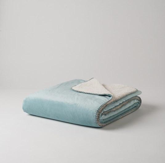 Citta Raschel Comfort Blanket Lagoon/Ivory 140x180cm