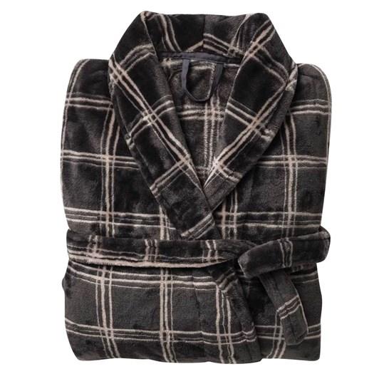 Citta Morales Men's Raschel Dressing Gown Carbon/Scoria S/M