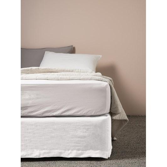 Citta Sove Linen Valance White Super King 203x183x35cmh
