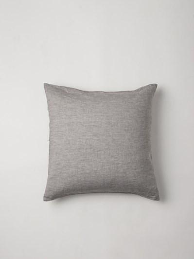 Citta Sove Chambray Linen Euro Pillowcase Ash 65x65cm