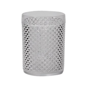 Citta Diamond Cut Acrylic Tumbler Set of 4 Clear  11cmh