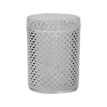 Citta Diamond Cut Acrylic Tumbler Set of 4 Clear  11cmh -