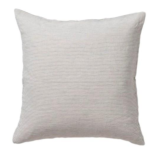 Citta Sove Stripe Linen Euro Pillowcase Ash/Chalk  65x65cm