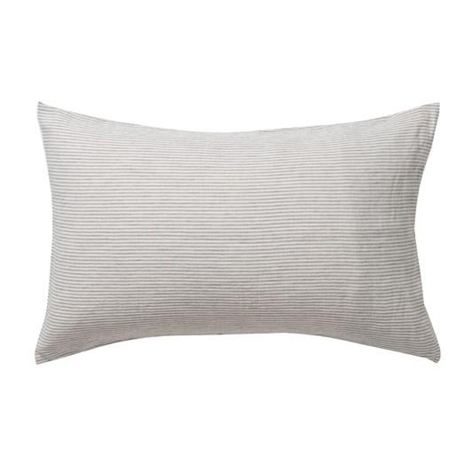 Citta Sove Stripe Linen Pillowcase PR Ash/Chalk 76x50cm