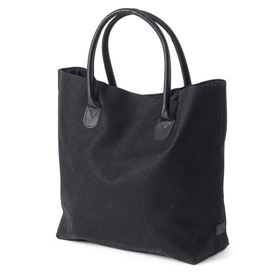 Citta Angola Shopping Bag with Black Handles Black 48x15x35cmh