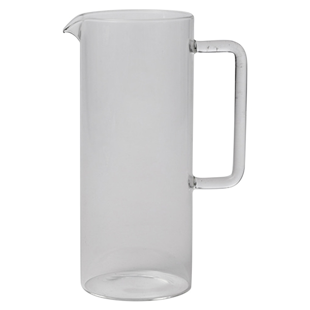 Citta Tube Jug with Clear Handle Clear  9cmdia x 22.5cmh -