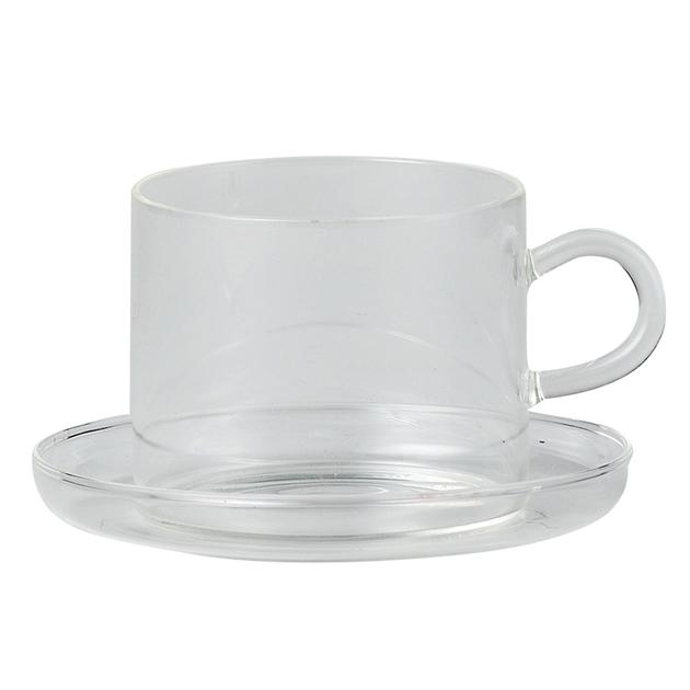 9dce8a3384 Mugs & Cups - Citta Piuma Tea Cup + Saucer Clear 8cmdiax6.5cmh ...