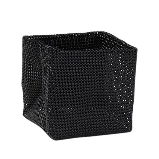 Citta Plastic Weave Newspaper Basket Black 31x31x31cm