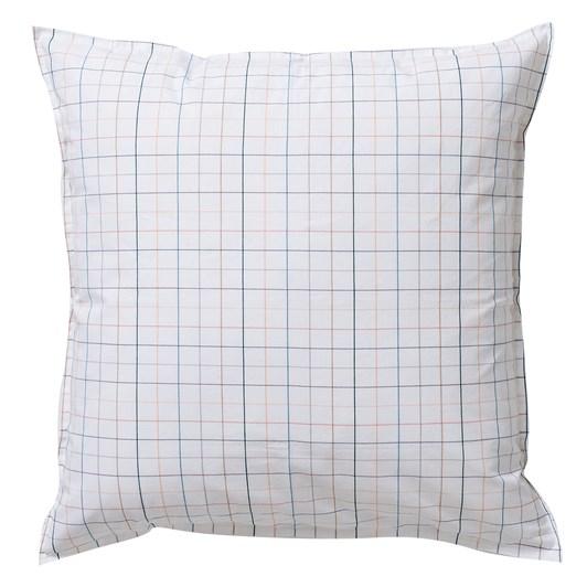 Citta Net Organic Cotton Woven Euro Pillowcase White/Multi 65x65cm