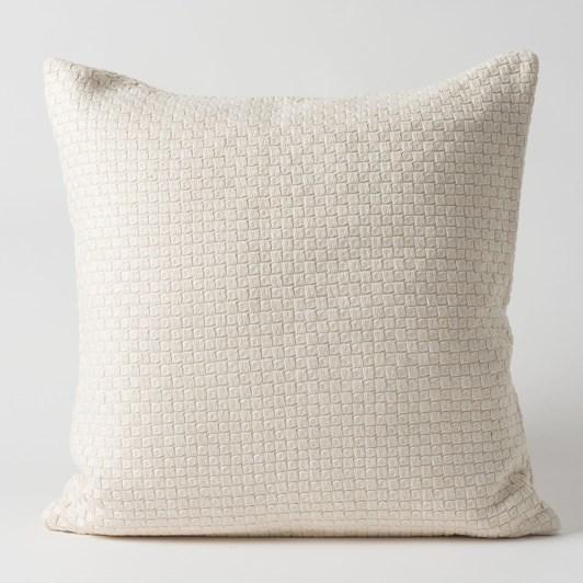 Citta Basket Woven Cushion Cover Chalk  55x55cm