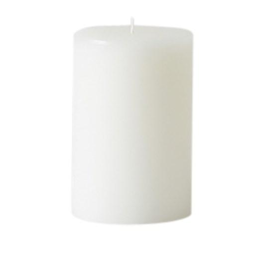 Citta Pillar Candle White Medium 7.5cmdiax12.5cmh