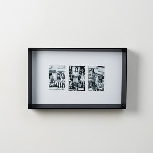 Prado 3 Photo Frame (Photo 4x6in) Black  54x7x33cmh