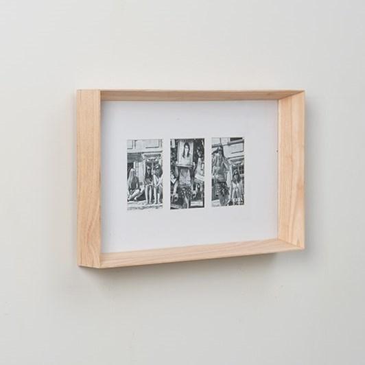 Prado 3 Photo Frame (Photo 4x6in) Natural  54x7x33cmh