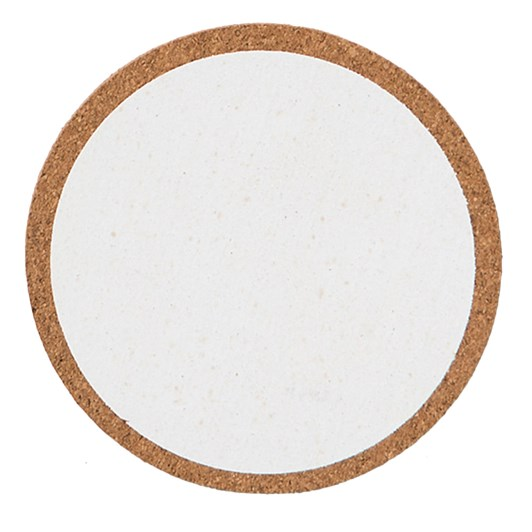 Citta Monroe Cork Coaster Set of 4 White 10cm