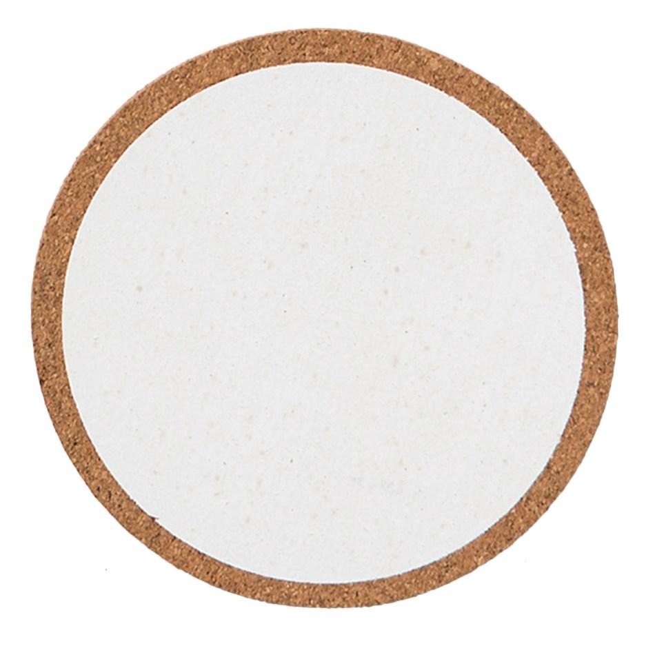 Citta Monroe Cork Coaster Set of 4 White 10cm -