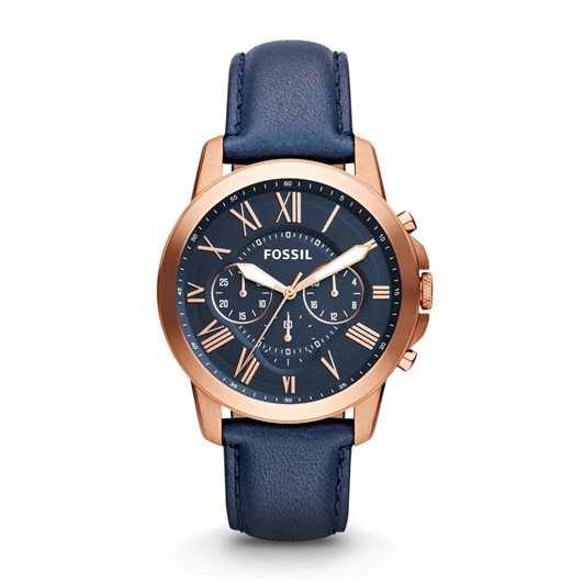 Fossil Grant Blue Chronograph Watch FS4835IE