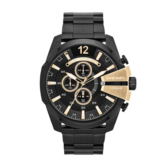 Diesel Chief Series Black Chronograph Watch DZ4338