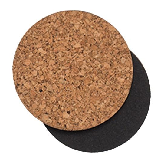 Citta Layer Round Coaster Natural/Black Set of 4