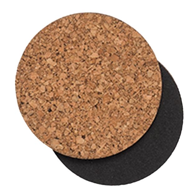 Citta Layer Round Coaster Natural/Black Set of 4 -