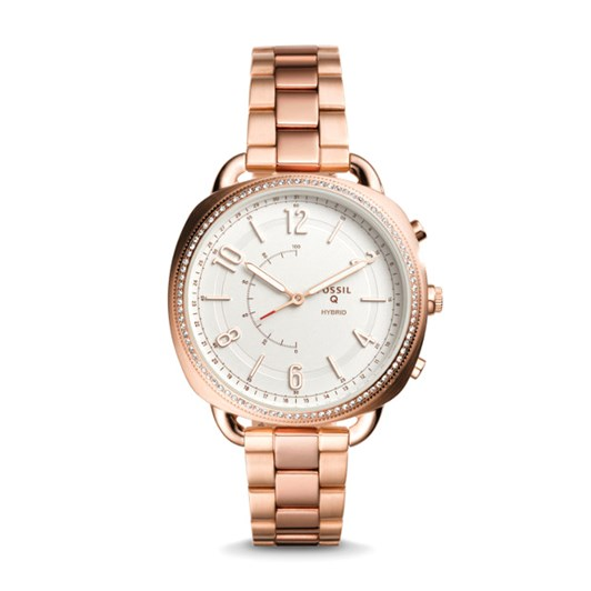 Fossil Q Accomplice Rose Gold-Tone Hybrid Smartwatch FTW1208