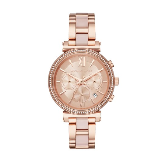 Michael Kors Sofie Rose Gold-Tone Chronograph Watch MK6560