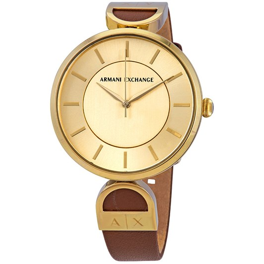 Armani Exchange Brooke Gold-Tone Analogue Watch AX5324