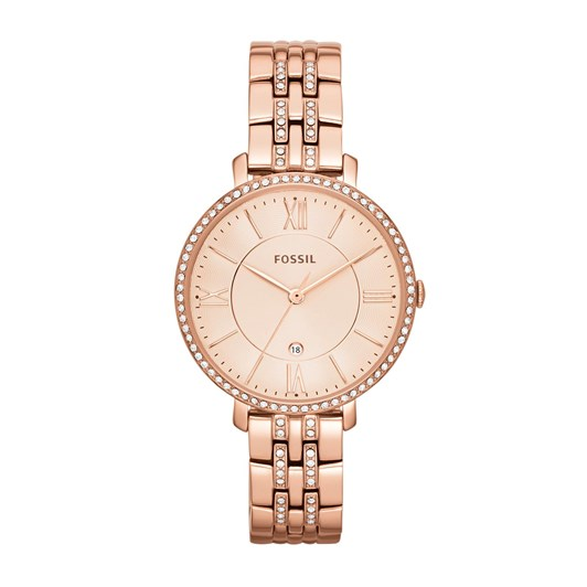 Fossil Jacqueline Rose Gold-Tone Analogue Watch ES3546