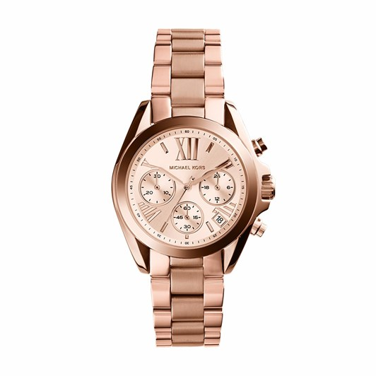 Michael Kors Mini Bradshaw Rose Gold-Tone Chronograph Watch MK5799
