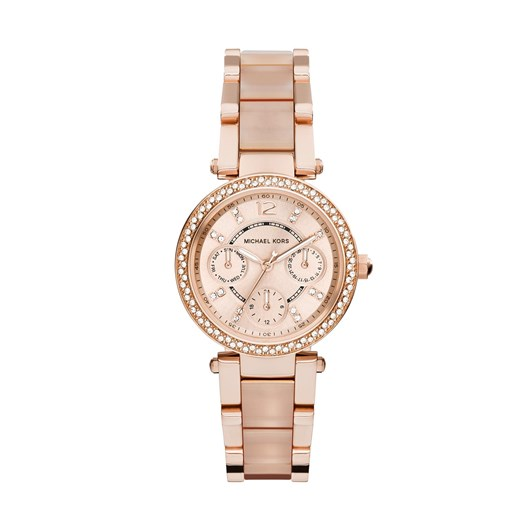 Michael Kors Mini Parker Rose Gold-Tone Analogue Watch MK6110
