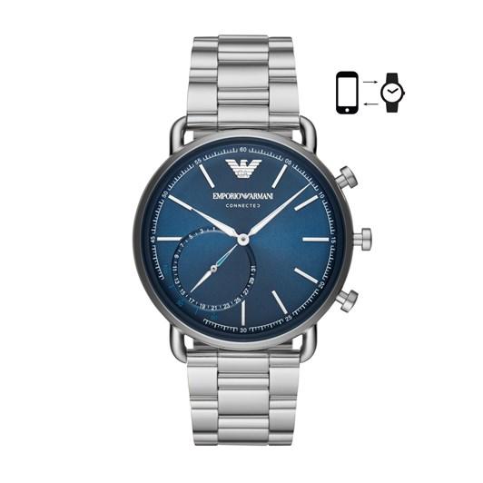 Emporio Armani Silver-Tone Hybrid Smartwatch ART3028