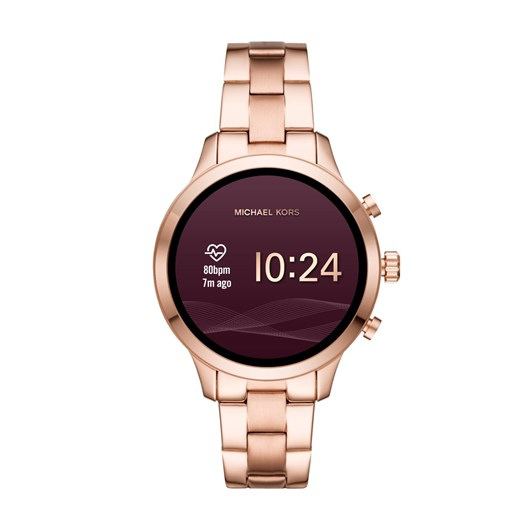 Michael Kors Runway Rose Gold-Tone Smartwatch MKT5046