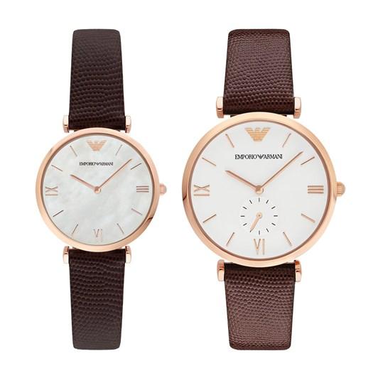 Emporio Armani Gianni T-Bar Brown Watch Set AR9042