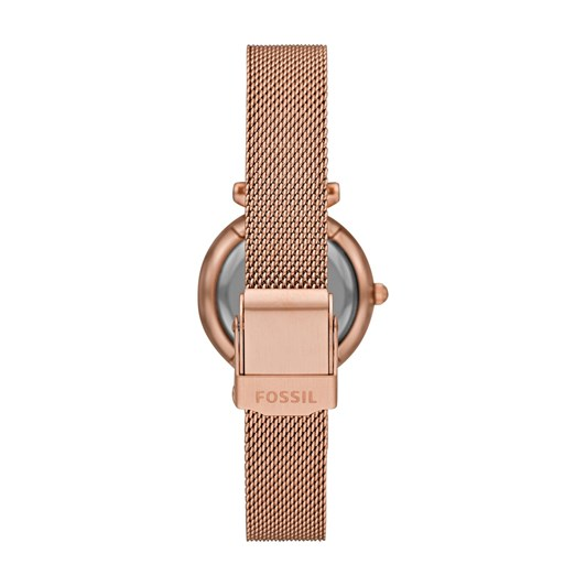 Fossil Carlie Mini Rose Gold-Tone Analogue Watch ES4505