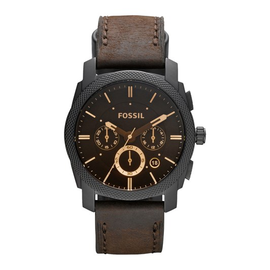 Fossil Machine Dark Brown Chronograph Watch FS4656IE